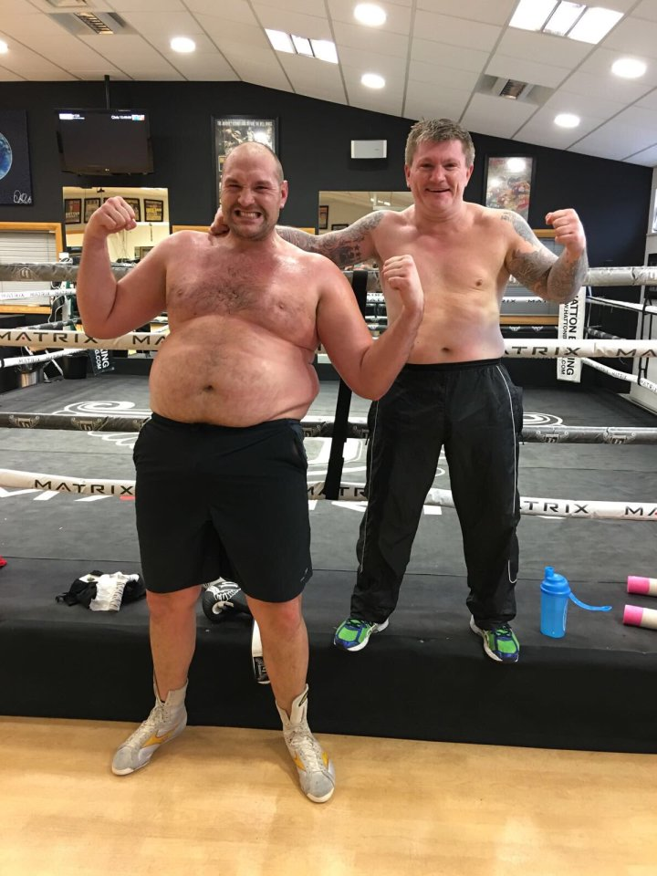 after being affected by clinical depression, Fury gained weight